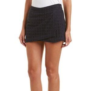 cAbi Eyelet Navy Blue Skort Shorts #5111